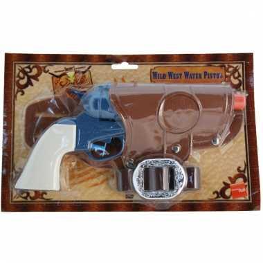 Blauwe cowboy revolver