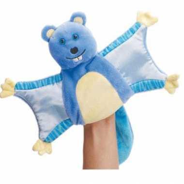 Blauwe eekhoorn handpop