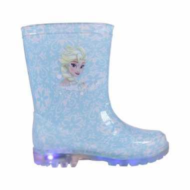 Blauwe frozen anna/elsa regenlaarzen voor kinderen