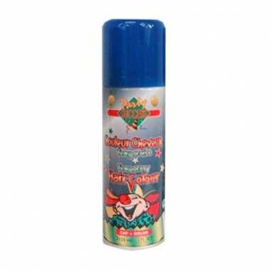 Blauwe hairspray