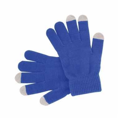 Blauwe handschoenen voor je mobiel