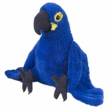 Blauwe macaw papegaai 30cm