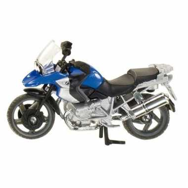 Blauwe motor bmw r1200 gs speelgoed 1047 siku