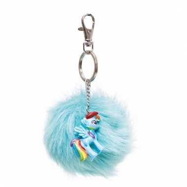 Blauwe my little pony sleutelhanger/tashanger voor kinderen