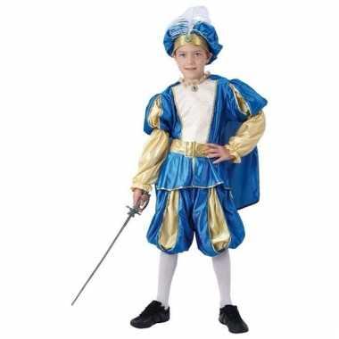 Blauwe oosterse prins kostuum voor jongens