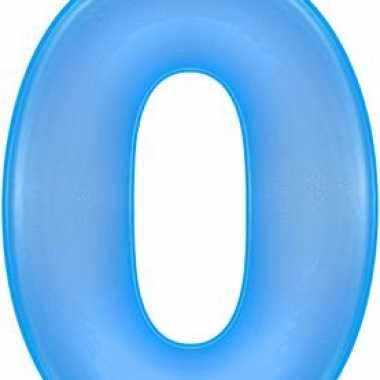 Blauwe opblaasbare getal 0