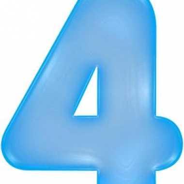 Blauwe opblaasbare getal 4