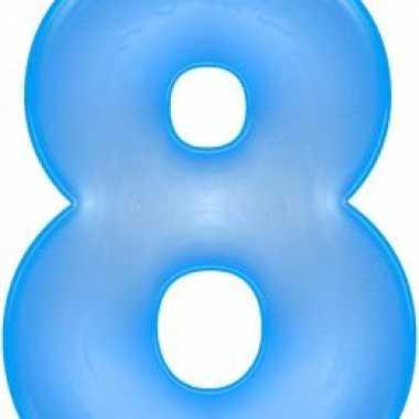 Blauwe opblaasbare getal 8