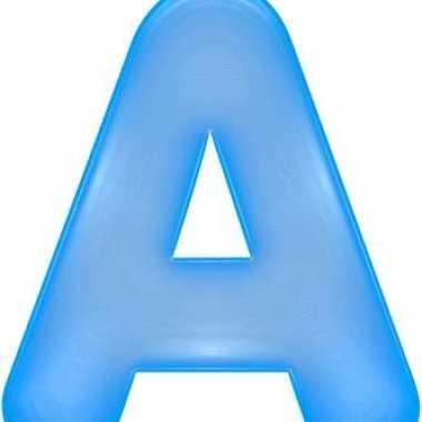 Blauwe opblaasbare letter a