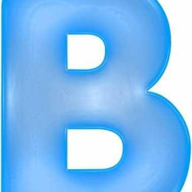 Blauwe opblaasbare letter b
