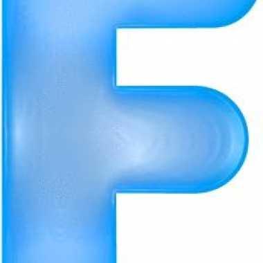 Blauwe opblaasbare letter f