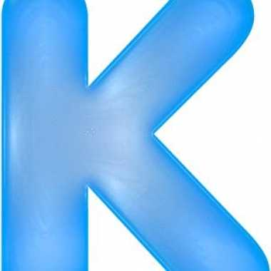 Blauwe opblaasbare letter k