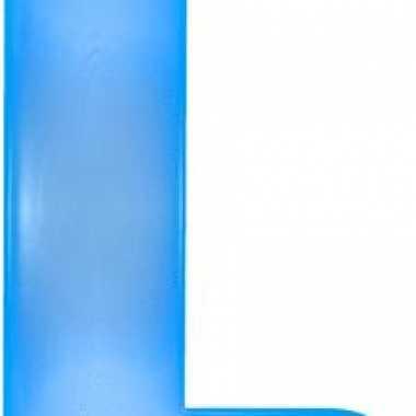 Blauwe opblaasbare letter l