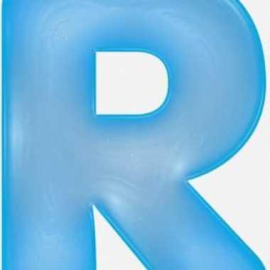 Blauwe opblaasbare letter r
