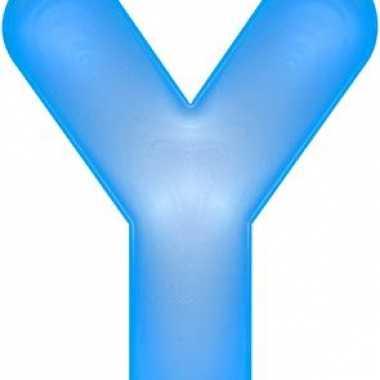 Blauwe opblaasbare letter y
