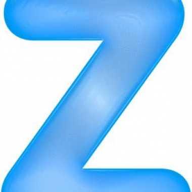Blauwe opblaasbare letter z