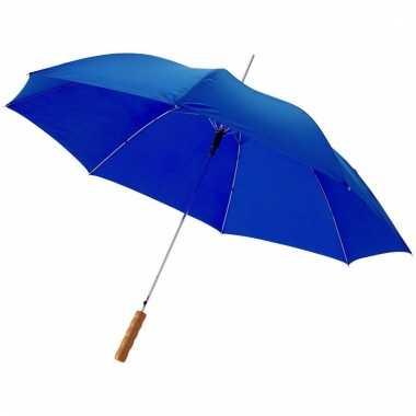 Blauwe paraplu automatisch 82 cm