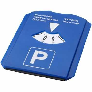 Blauwe parkeerschijf multi use