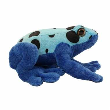Blauwe pijlgifkikker azureus knuffel 18 cm