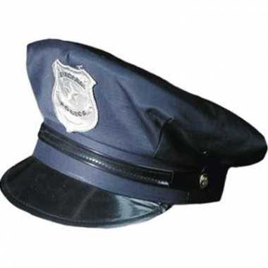 Blauwe politie pet voor volwassenen