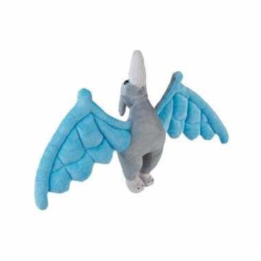 Blauwe pterosaurus knuffel dinosaurier 30 cm
