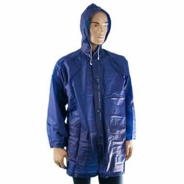 Blauwe regenjas voor volwassenen