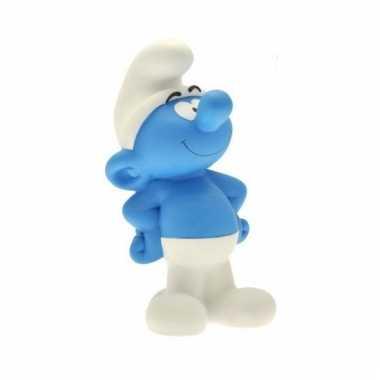 Blauwe smurfen spaarpot 22 cm