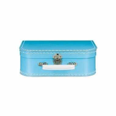 Blauwe speelgoed koffer 25 cm