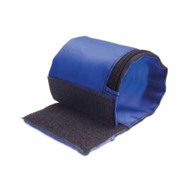 Blauwe sportband van polyester