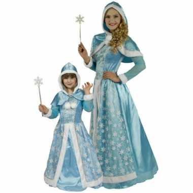 Blauwe verkleedjurk sneeuwprinses
