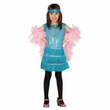 Blauwkleurige jurk voor meisjes