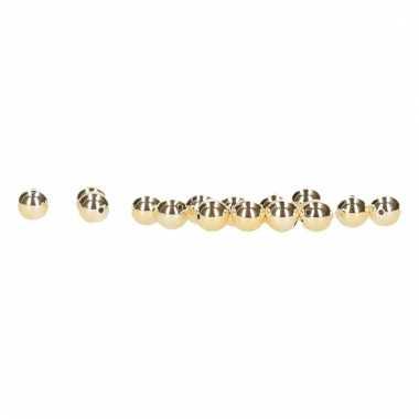 Bling bling kraal goudkleurig 8 mm 15 stuks