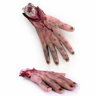 Bloederige halloween handen