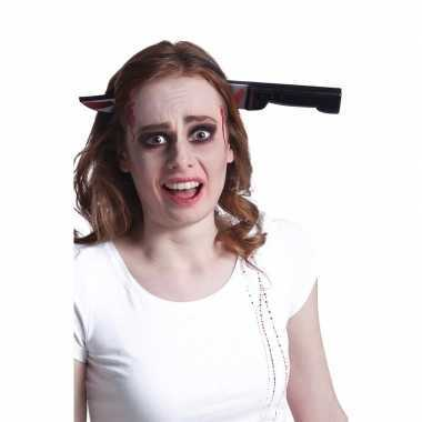 Bloederige mes diadeem voor volwassenen