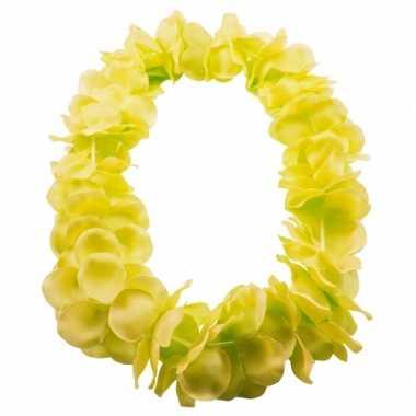 Bloemenkrans ketting geel
