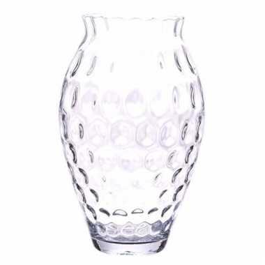 Bloemenvaas rond met bollen structuur 40 cm