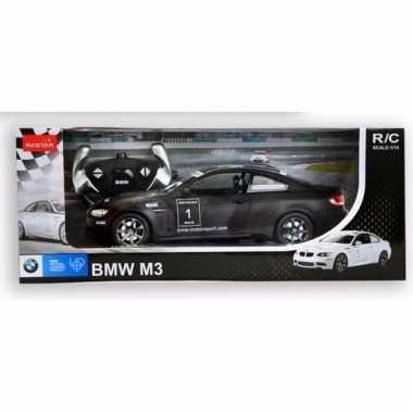 Bmw m3 zwart speelgoed auto met afstandsbediening 1:14