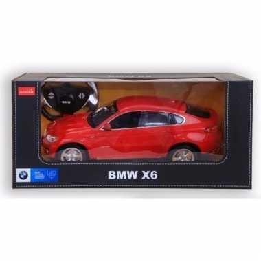 Bmw x6 rood speelgoed auto met afstandsbediening 1:14