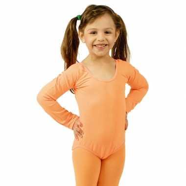 Bodystocking oranje voor kinderen