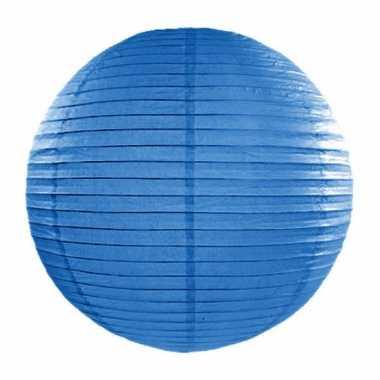 Bol lampion blauw 35 cm