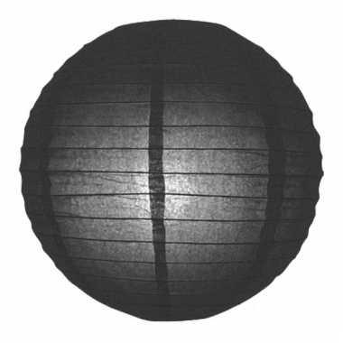 Bol lampion zwart 25 cm
