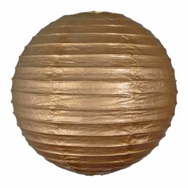 Bol lampionnen goud 25 cm