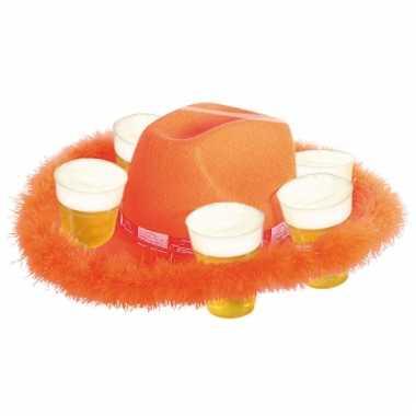 Bonthoed oranje voor bierglazen