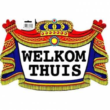 Bord welkom thuis