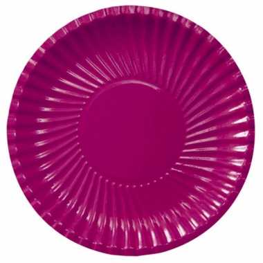 Bordeaux kartonnen borden 29 cm