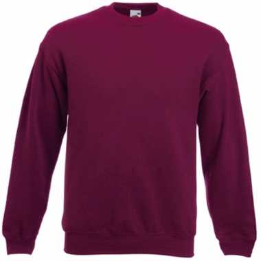 Bordeaux rode fruit of the loom sweater ronde hals