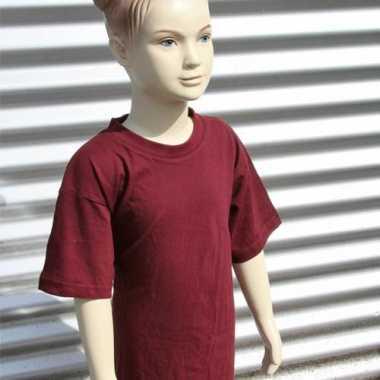 Bordeaux rood t-shirt voor kinderen
