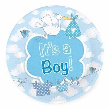 Bordjes geboorte jongen 8 stuks