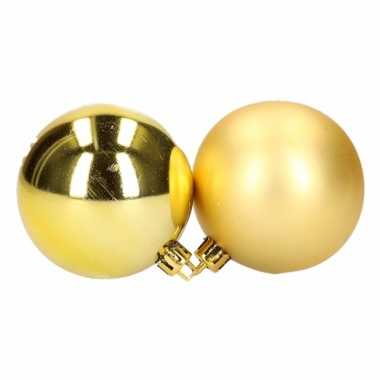 Box met gouden kerstballen 6 cm 12 stuks