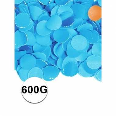 Brandvertragende confetti blauw 600 gram